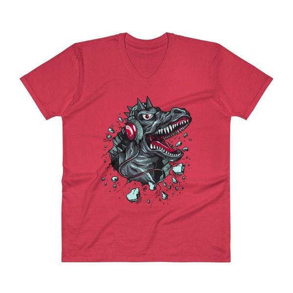 Dinosaur V-Neck T-Shirt