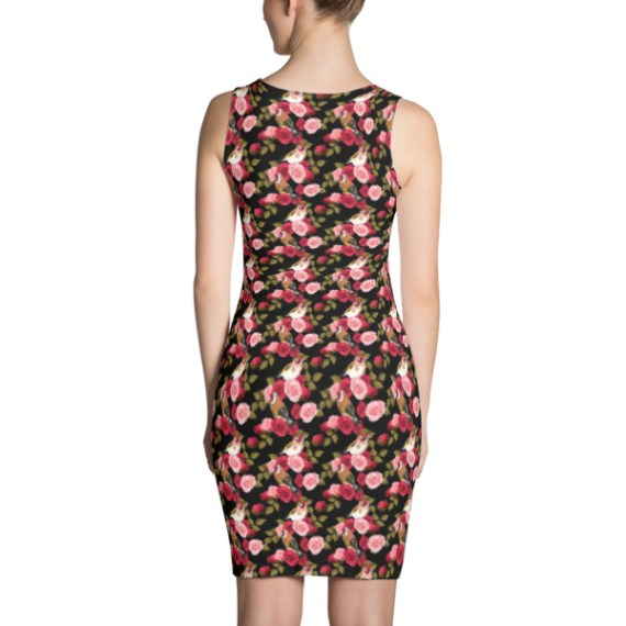 Goldfinch and Roses Dress