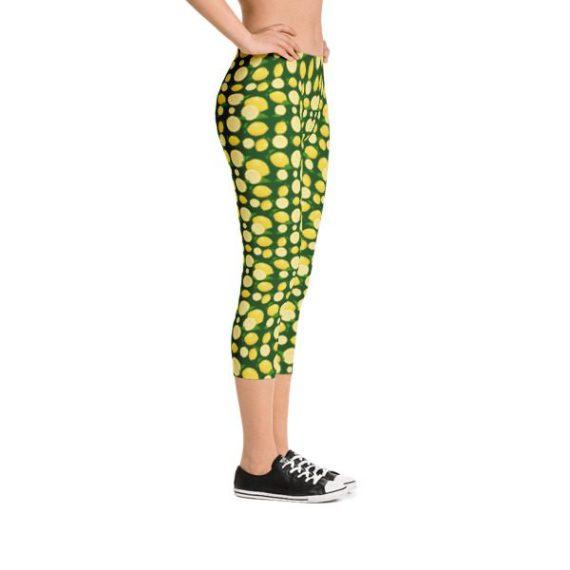 Lemon Capri Leggings