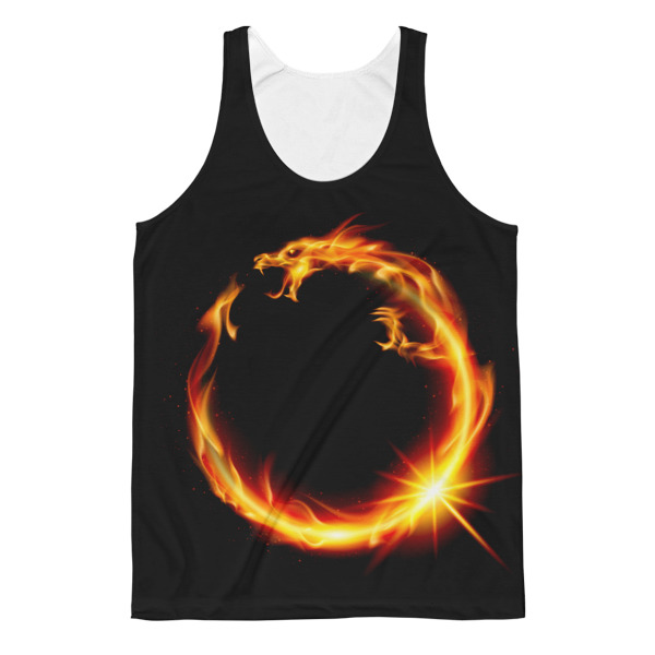 Unisex Chinese Dragon Fire Classic Fit Tank Top