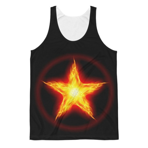Unisex Fire Star Classic Fit Tank Top