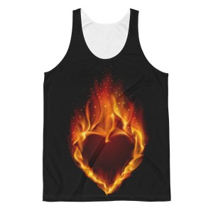 Unisex Heart On Fire Classic Fit Tank Top