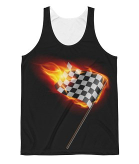 Unisex Racing Fire Flag Classic Fit Tank Top