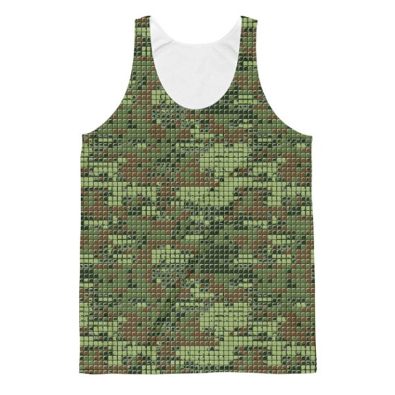 Unisex Workout Camo Classic Fit Tank Top
