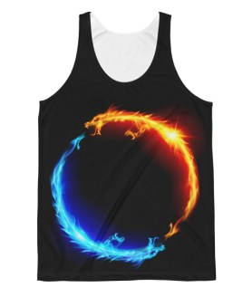 Unisex Yin Yang Dragon Classic Fit Tank Top