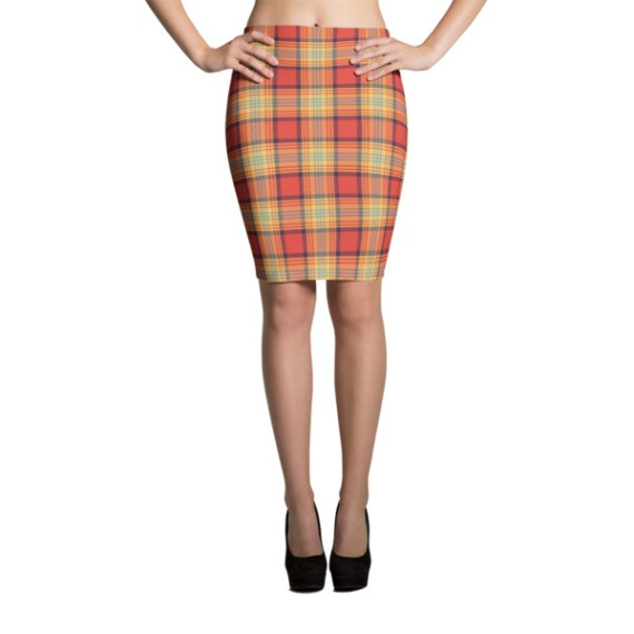 Women's Lovely Plaid Party Pencil Skirt