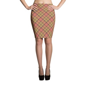 Women's Plaid Tartan Pencil Skirt