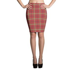 Women's Retro Tartan Pencil Skirt
