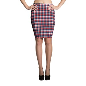 Women's Seamless Checkered Pencil Skirt