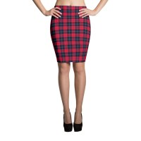 Women's Summer Plaid Pencil Skirt