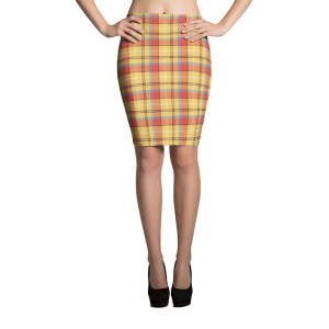 Women's Tartan Party Pencil Skirt