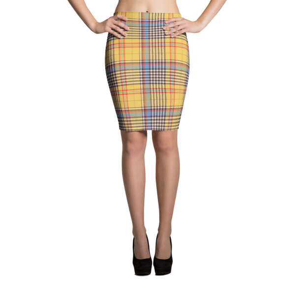 Women's Tartan Pencil Skirt