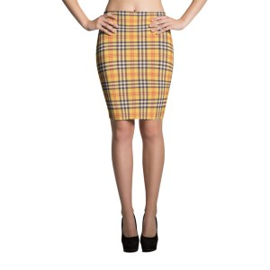 Women's What Devotion Plaid Pencil Skirt