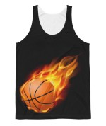 Unisex Basketball Fire Classic Fit Tank Top