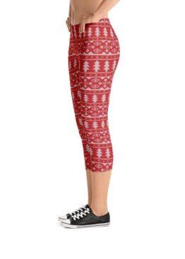 womens christmas tree capri leggings