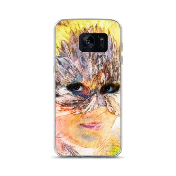 Indian woman wearing a feather headdress Samsung Case