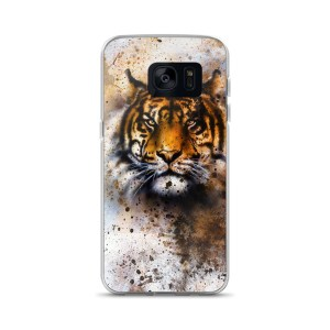 wildlife tiger, eye contact Samsung Case
