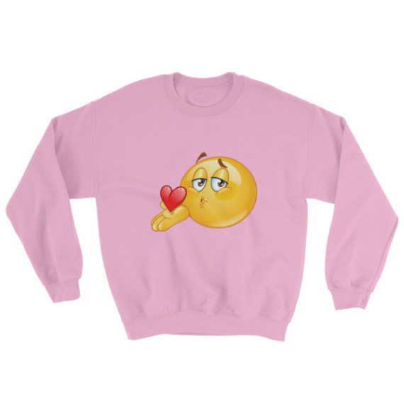 Blowing kiss Emoji Sweatshirt