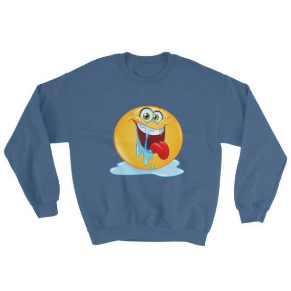 Drooling emoticon Sweatshirt