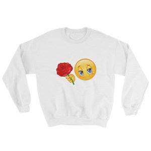 Emoticon with rose Sweatshirt