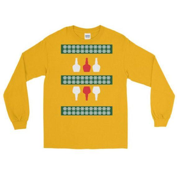 Ugly Christmas Sweaters - Alcohol Long Sleeve Shirt