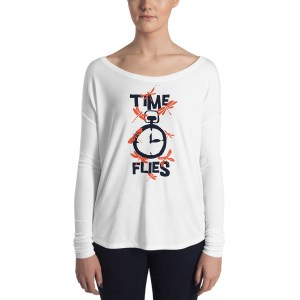 Ladies' Time Flies Long Sleeve Tee