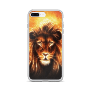 lion head with golden mane iPhone Case