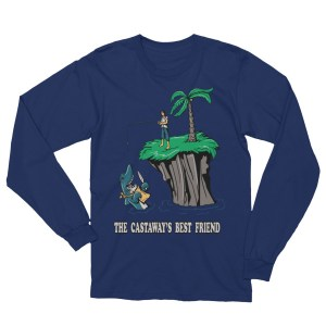 Unisex Shark Best Friend Castaway Fear Long Sleeve T-Shirt