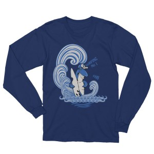 Unisex Surfing Shark Long Sleeve T-Shirt