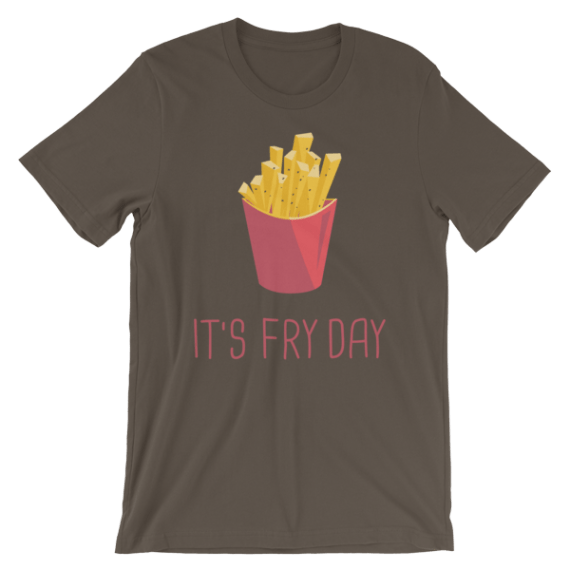 Fries Day Shirt - French Fries Shirt - Funny Friday Short Sleeve Women's T-Shirt