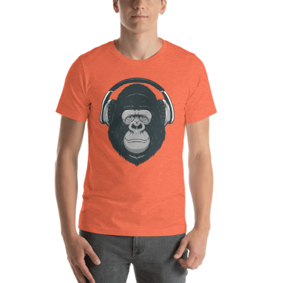 Happy Monkey Short Sleeve Unisex T-Shirt