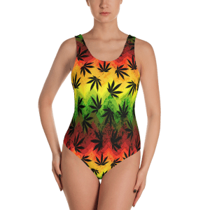 Hemp leaves One-Piece Swimsuit - Women's Beachwear Bathing Suit