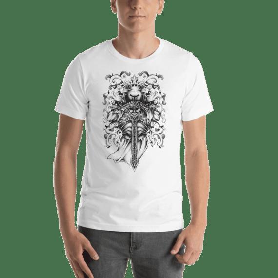 Knight and Armor Short Sleeve Unisex T-Shirt