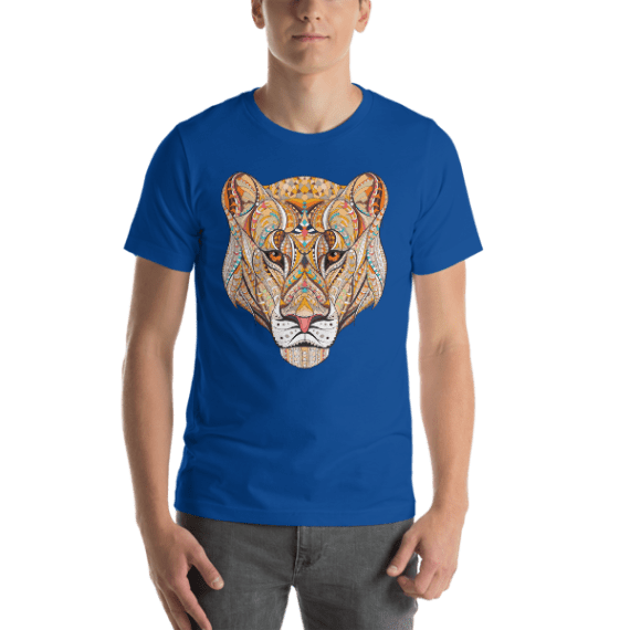 Lioness Patterned Head Short Sleeve Unisex T-Shirt