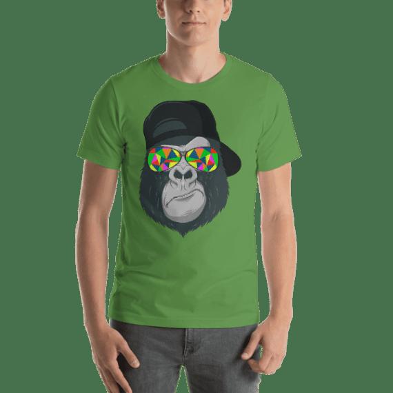 Monkey with Colorful Glasses Short Sleeve Unisex T-Shirt