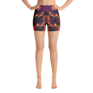 Multicolored Summer Yoga Short Pants with a Small Inner Pocket