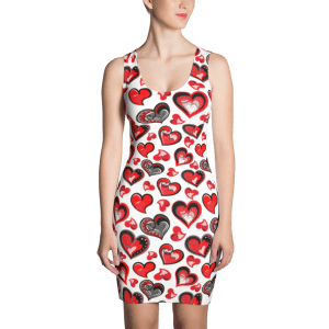 Queen of Hearts Black Red Dress
