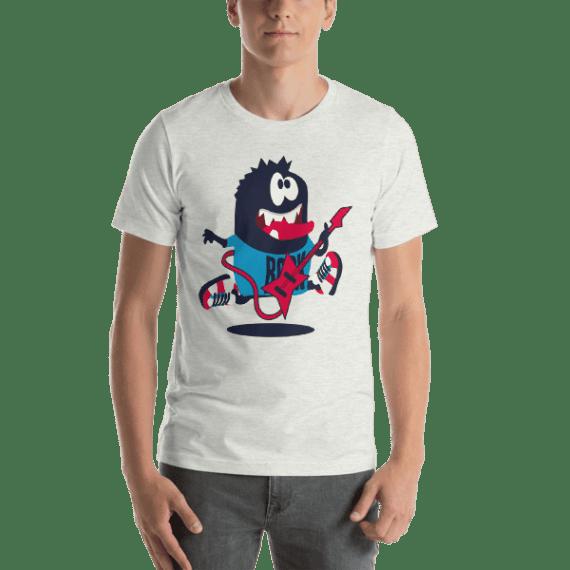 Rocker Monster Short Sleeve Unisex T-Shirt