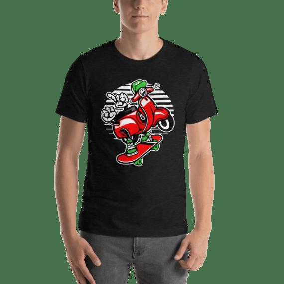 Scooter Skater Short Sleeve Unisex T-Shirt
