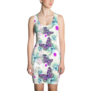 Sexy Flowers with Butterflies Dress