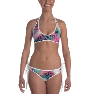 Shining Leaves & droplet Bikini - Ladies Beachwear Bathing Suit