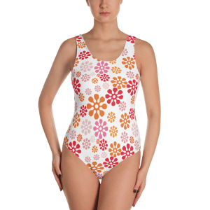 Silly Spring Flowers One-Piece Swimsuit - Ladies' Beachwear Bathing Suit