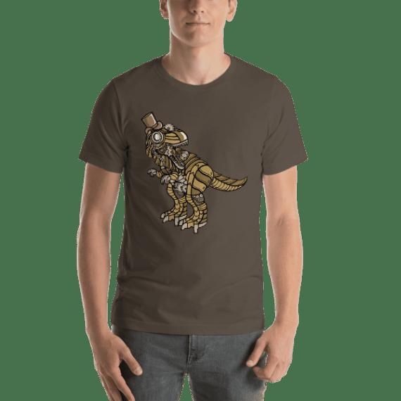Steampunk T-Rex Short-Sleeve Unisex T-Shirt