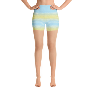 Summer Beach Yoga Short Pants with a Small Inner Pocket
