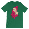 Women's Cute Lady with Curly Red Hair Short Sleeve T-Shirt