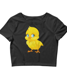 Women's Cute Little Chick Crop Top