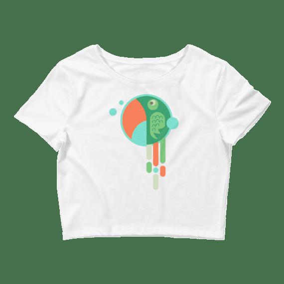 Women's Cute Parrot Crop Top