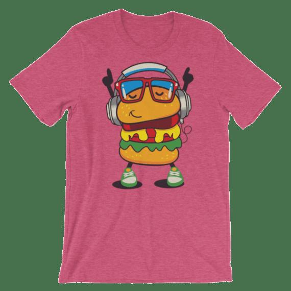 Women's Fancy Hamburger Short Sleeve Funny T-Shirt