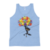 Women's Funny Black Cat Flying with Balloons Tank Top