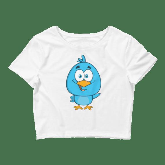 Women's Funny Blue Bird Crop Top